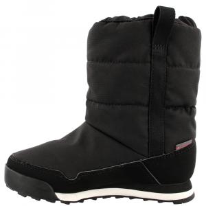 Image of Adidas Kids Snowpitch Slip-On Outdoor Shoes, Black/black/chalk White