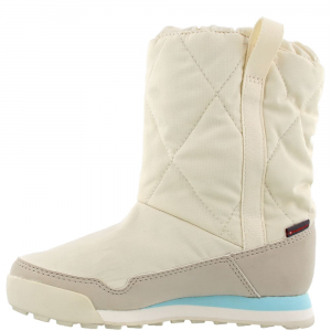 Image of Adidas Kids Snowpitch Slip-On Outdoor Shoes, Chalk White/clear Brown/clear Aqua