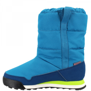 Image of Adidas Kids Snowpitch Slip-On Outdoor Shoes, Mystery Petrol/blue Night/semi Solar Yellow