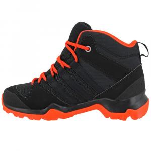 Image of Adidas Kids Ax2R Mid Hiking Shoes, Core Black/core Black/energy