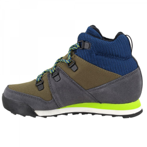 Image of Adidas Kids Snowpitch Hiking Shoes, Trace Cargo/utility Black/semi Solar Yellow