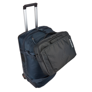 A spacious rolling duffel with wide-mouth access and divided main compartment to easily pack and...