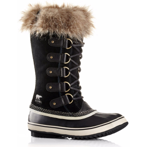 A stylish look for trudging through the snow: Sorel crafts a waterproof exterior out of suede...