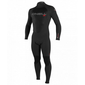 o'neill men's epic 3/2 mm wetsuit - size l- Save 8.% Off - With a streamlined design and the warmth of Firewall in the chest, the O'Neill Epic 3/2 mm wetsuit offers many of the same features of their high-end wetsuits at an excellent value. 100% Ultraflex neoprene is superlight, warm, and durable. FluidFlex Firewall insulation is measurably lighter, warmer, and more flexible than other materials. Double Super Seal neck is fully adjustable and watertight. Krypto Knee Padz, made from abrasion-resistant, high-stretch neoprene, are ergonomically shaped to extend the life of the wetsuit and protect your knees when punching through waves. Lumbar Seamless Design (LSD) utilizes a single large panel in the rear of the wetsuit to maximize stretch and minimize water entry. Ergonomic, seamless undersleeve panel allows for unrestricted movement and offers protection from rashes and chafing. Glued and blindstitched seams are watertight with tape added to critical areas. Blackout zipper with offset teeth prevents water from getting in at the back entry point. External key pocket on lower leg inseam is easy to access and completely secure