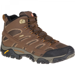 Merrell Men's Moab 2 Mid Gore- Tex Hiking Boots, Earth - Size 7