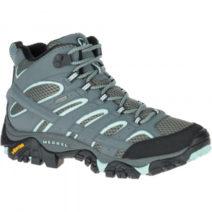 Merrell Women's Moab 2 Gore-Tex Waterproof Hiking Boots,sedona Sage, Wide - Size 6