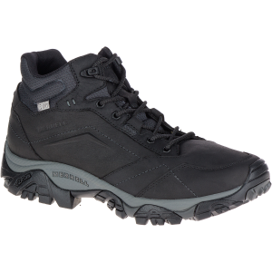Merrell Men's Moab Adventure Mid Waterproof Hiking Boots, Black - Size 7.5