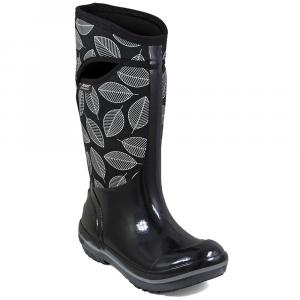Bogs Women's Plimsoll Leafy Tall Waterproof Winter Boots, Black Multi - Size 6