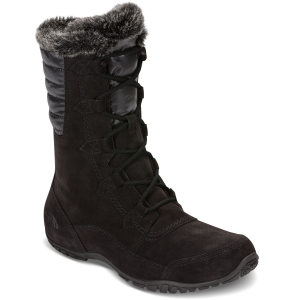 Handle low temps in high style with these waterproof winter boots that feature mid-weight...