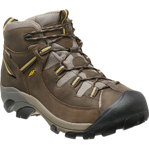 Keen Men's Targhee Ii Mid Wp Hiking Boots, Black Olive/yellow - Size 8