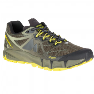 Merrell Men's Agility Peak Flex Trail Running Shoes, Beluga/olive - Size 8