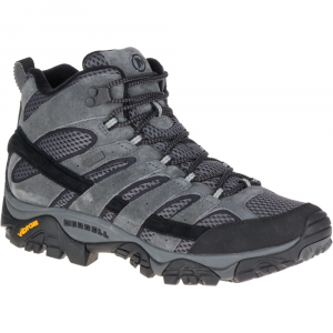 Merrell Men's Moab 2 Mid Waterproof Hiking Boots, Granite - Size 7