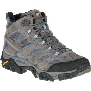 Merrell Women's Moab 2 Mid Waterproof Hiking Boots, Granite , Wide - Size 6