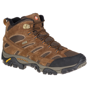 Merrell Men's Moab 2 Mid Waterproof Hiking Boots, Earth, Wide - Size 7