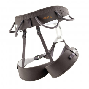 petzl aquila climbing harness- Save 30% Off - Designed for high-end, cutting-edge sport, traditional, and alpine climbs, the Petzl Aquila Climbing Harness delivers a slim, clean, lightweight design, while remaining extremely comfortable. FuseFrame design offers excellent weight distribution and minimizes pressure points. DoubleBack HB buckles at the waist and legs provide quick and easy adjustment. Reinforced tie-in point for improved resistance to rope friction. Four gear loops: two rigid in the front, two flexible in the rear to avoid causing pressure if you are wearing a backpack. Two integrated Caritool holders (Caritools not included). Rear loop for a haul rope.