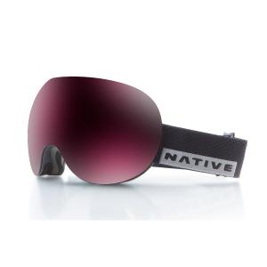 Native Eyewear Backbowl Goggles, Black Rip/snowtuned Silver