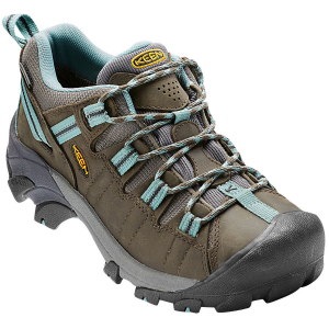 Keen Women's Targhee Ii Waterproof Hiking Shoes, Black Olive/mineral Blue - Size 8