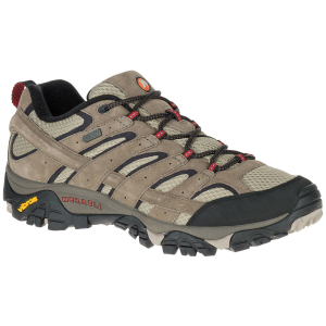 Merrell Men's Moab 2 Waterproof Low Hiking Shoes, Bark Brown - Size 7