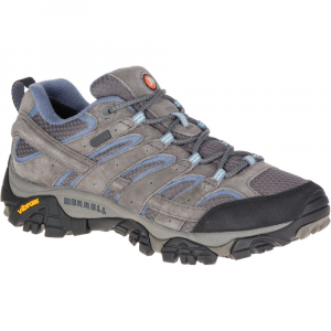 Merrell Women's Moab 2 Waterproof Hiking Shoes, Granite, Wide - Size 6