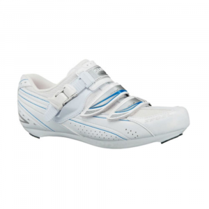shimano women's wr41 road bike shoes - size 36- Save 45% Off - Secure micro-adjust buckle lets you comfortably crank out some power in the Shimano WR41 Road Bike Shoes. . Supple stretch resistant synthetic leather and mesh upper. Micro-adjust buckle and dual off-set straps. Snug, durable and breathable comfort. Womens Specific Fit. Close-to-foot fit last. Lightweight glass fiber reinforced-polyamide sole. SPD and SPD-SL cleat compatible.