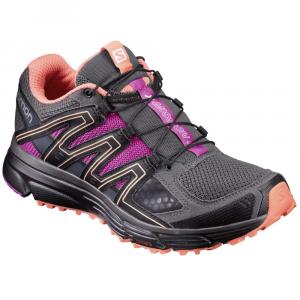 Salomon Women's X-Mission 3 Trail Running Shoes, Magnet/black/rose Violet - Size 8