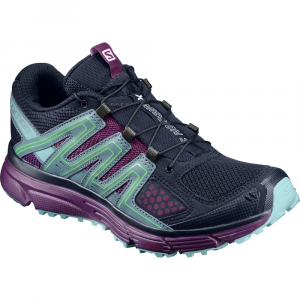 Salomon Women's X-Mission 3 Trail Running Shoes, Navy Blazer/grape Juice/north Atlantic - Size 7