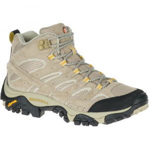 Merrell Women's Moab 2 Ventilator Mid Hiking Boots, Taupe, Wide - Size 5