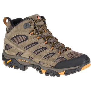 Merrell Men's Moab 2 Ventilator Mid Hiking Boots, Walnut, Wide - Size 7
