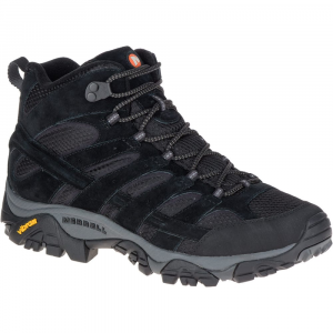 Merrell Men's Moab 2 Ventilator Mid Hiking Boots, Black Night - Size 7