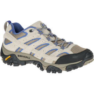 Merrell Women's Moab 2 Ventilator Hiking Shoes, Aluminum/ Marlin Wide - Size 5