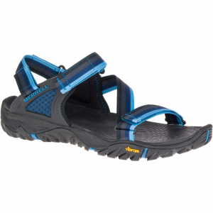 Merrell Men's All Out Blaze Web Sandals, Ebony - Size 12