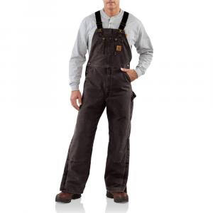 Carhartt Men's Quilt Lined Sandstone Duck Bib Overall