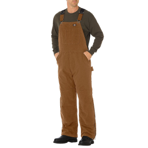 These sanded duck insulated bib overalls feature light and strong fabric for ease of movement...