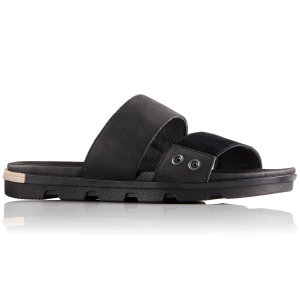 Sorel Women's Torpeda Ii Slide Sandals, Black/white - Size 6