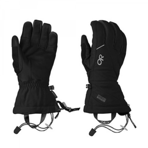 outdoor research men's southback gloves- Save 23% Off - A GORE-TEX liner and lighter insulation across the leather palms give this glove excellent tactile feel on your pole grips and bomber durability. The mid-length gauntlet is big enough to fit over your jacket cuff, and keeps the snow out on steep, deep powder days.This product will be shipped directly from Outdoor Research and will leave their warehouse in 2-3 business days. Eligible for UPS ground shipping only. Windproof. Wicking. Waterproof. Supercinch gauntlet closure. Soft and tactile leather palm. Removable idiot cord. Pull loop. Nose wipe on thumb. Breathable. Pre-curved construction