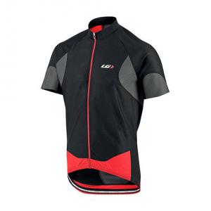 Louis Garneau Men's Metz Lite Bike Jersey, Black/grey/red
