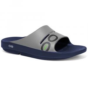 Oofos Ooahh Sport Sandals, Navy/steel - Size M14/W16