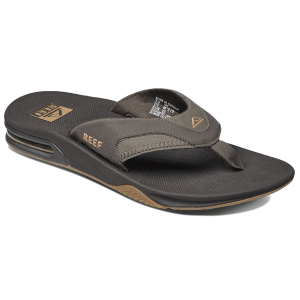 Comfortable flip-flops made with a water-friendly synthetic nubuck upper are great for the beach...