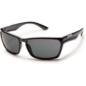 Suncloud Cutout Sunglasses, Black/grey