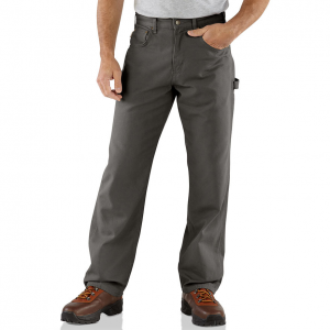 Wield multiple hammers in these Carhartt(R) carpenter jeans, featuring dual hammer loops. .  100%...