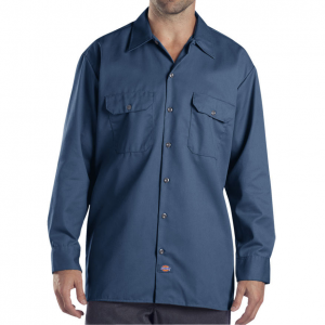 This long sleeve Dickies(R) work shirt features Scotchguard(TM) stain release technology for easy...