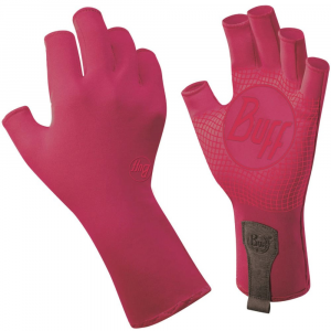 buff men's sport series water gloves- Save 29% Off - Keep your hands protected when you are enjoying your water sports this season! These gloves will guard your hands from sunburn, blistersand cuts.  98% nylon, 2% spandex.  Silicone palm grip and half-finger length provide paddle control.  Breathable and durable stretch fabric.  UPF 50+.  Easy-on/off access.  Imported. . .
