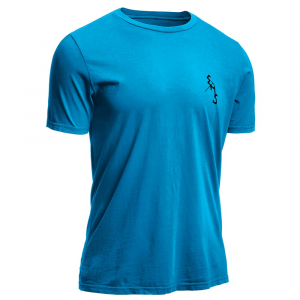 ems men's ice axe graphic tee - size s- Save 25% Off - Featuring our original ice axe logo, this organic cotton tee is weathered to a perfect state of broken-in-ness. EMS ice axe logo on the front; larger graphic on the back. Made from pure and sustainable organic cotton jersey. Supersoft feel. 3/4 in. wide 1x1 ribbed collar. Self-fabric binding at back neck and shoulder seams for comfort, a clean finish, and durability. New slimmer fit: Designed to be more true to size. Shoulder-to-hem length: 29 in. (M). Made in Peru.