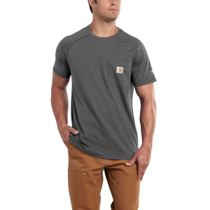 Win the fight against sweat and stains in this durable t-shirt. . . .  65% cotton, 35%...