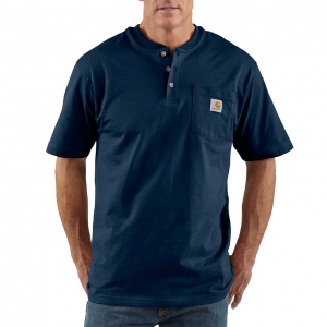 This work shirt features a chest pocket for an extra level of convenience.  100% cotton; jersey...