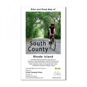 Image of Bike And Road Map Of South County Ri
