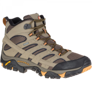Merrell Men's Moab 2 Mid Gore-Tex Hiking Boots, Walnut, Wide - Size 7