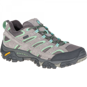 Merrell Women's Moab 2 Waterproof Hiking Shoes, Drizzle/ Mint,wide - Size 5