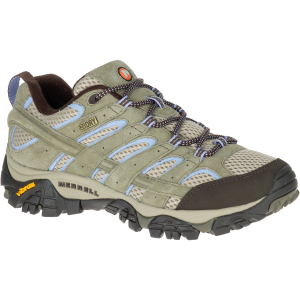 Merrell Women's Moab 2 Waterproof Hiking Shoes, Dusty Olive, Wide - Size 5