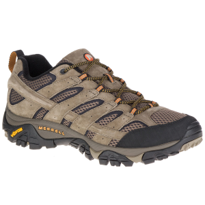 Merrell Men's Moab 2 Ventilator Low Hiking Shoes, Walnut, Wide - Size 7.5